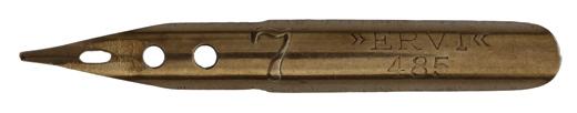 Antike linksgeschrägte Feder, Ervi, No. 485-7