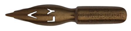 Antike linksgeschrägte Feder, Heintze & Blanckertz, Ly 37