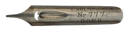 Linksgeschrägte Kalligraphie Schreibfeder, F. Soennecken, No. 777
