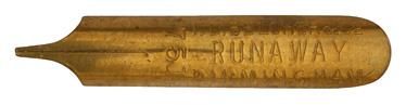 Antike linksgeschrägte Feder, J. D. Belcher, No. 751, Runaway Pen