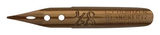 Linksgeschrägte Kalligraphie Schreibfeder, Heintze & Blanckertz, No. ½8, Ly, Fabrik-Berlin