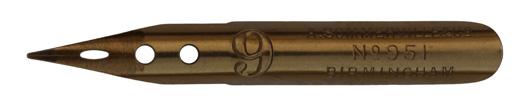 Antike linksgeschrägte Kalligraphie-Feder, A. Sommerville & Co, No. 951-9