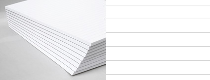 Kalligraphie Übungsblock, liniert, 50 Blatt, weiß, 100g/m²