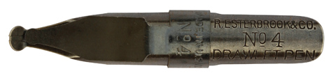 R. Esterbrook & Co, Drawlett Pen, No 4, 3mm