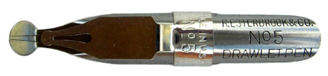 R. Esterbrook & Co, Drawlett Pen, No 5, 4 mm