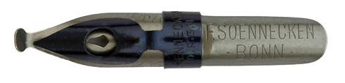 Antike Schnurzugfeder, F. Soennecken, No. 250, 3mm, Typ 1
