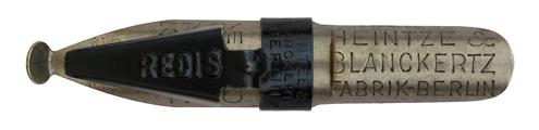 Antike Schnurzugfeder, Heintze & Blanckertz, Redisfeder No. 1146, 3 1/2mm, Typ 1