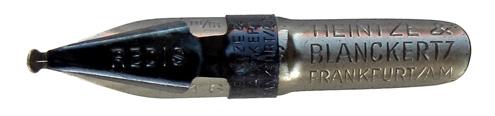 Antike Schnurzugfeder, Heintze & Blanckertz, Redisfeder 1146, 2mm, Typ1