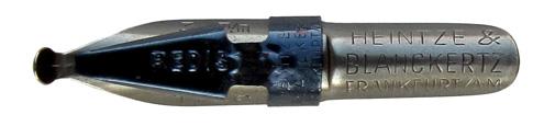 Antike Schnurzugfeder, Heintze & Blanckertz, Redisfeder 1146, 3mm, Typ1