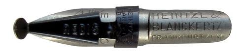 Antike Schnurzugfeder, Heintze & Blanckertz, Redisfeder 1146, 4mm, Typ1