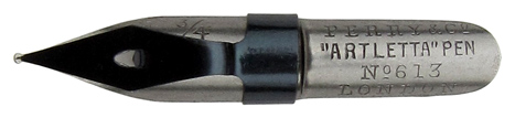 Schnurzugfeder, Perry & Co, No. 613, 0,75 mm, Artletta Pen