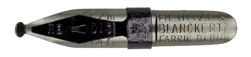 Schnurzugfeder, Heintze & Blanckertz, No. 1146, 3mm, Redisfeder Typ 4