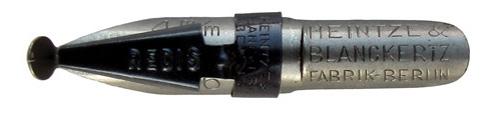 Antike Schnurzugfeder, Heintze & Blanckertz, Redisfeder 1146, 4mm, Typ1, Fabrik-Berlin