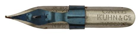 Antike Schnurzugfeder, Carl Kuhn & Co, No. 61, 3/4 mm