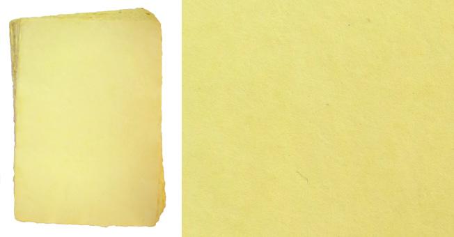 Handgeschöpftes Büttenpapier, A4, gelblich