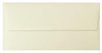 Briefumschlag, DIN lang, naturweiß mit Büttenrand