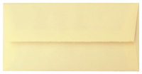 Briefumschlag mit braunem Futter, DIN lang, chamois, mit Büttenrand