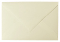 Briefumschlag, naturweiß, C5, mit Büttenrand