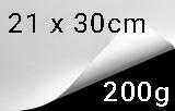 """Papier """"Jupp crääm"""", naturweiß, 200g/m², 21 x 30cm (A4)"""