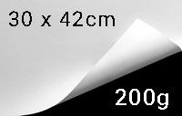 """Papier """"Jupp crääm"""", naturweiß, 200g/m², 30 x 42cm (A3)"""