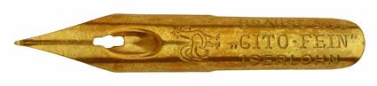 Kalligraphie-Pfannenfeder, Brause & Co, Cito-Fein, Typ 1