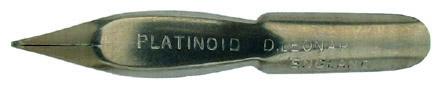 Antike Schreibfeder, D. Leonardt & Co, No. 597, Platinoid