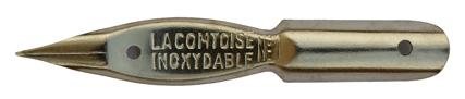 Antike Kalligraphie Schreibfeder, Unbekannter Hersteller, No. 1, La Comtoise Inoxydable