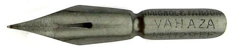 Antike Pfannenfeder, Baignol & Farjon, No. 1129 EF, Vahaza, Typ 1