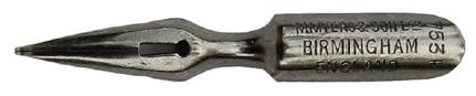 Antike Schreibfeder, M. Myers & Son Ltd, No. 753 F