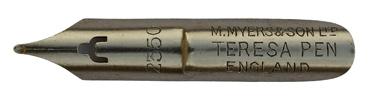 Antike Kalligraphie Schreibfeder, M. Myers & Son Ltd, No. 2350, Teresa Pen
