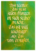 Kalligraphie-Postkarte