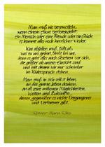 Man muss nie verzweifeln, wenn einem etwas verloren geht ... Rainer Maria Rilke