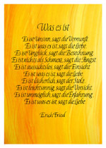 Was es ist ... Erich Fried