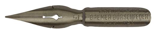 Antike Spitzfeder, Brause & Co, Bremer Börsenfeder F, Typ 1