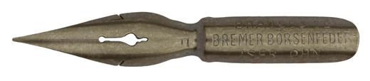 Antike Spitzfeder, Brause & Co, Bremer Börsenfeder F, Typ 2