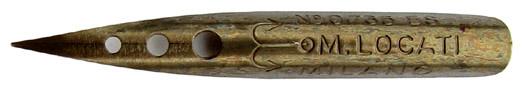 Antike Spitzfeder, Mario Locati, E. Cattaneo et Figli, No. 0736 ES
