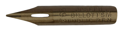 Antike Kalligraphie Spitzfeder, Joseph Gillott & Sons Ltd., No. 292 M, Public Pen, Typ 2