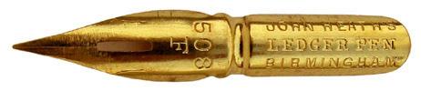 Kalligraphie Spitzfeder, John Heath, No. 508 F, Ledger Pen