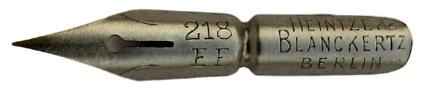 Kalligraphie-Spitzfeder, Heintze & Blanckertz, No. 218 EF
