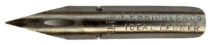 Kalligraphie-Spitzfeder, F. P. Bridges & Co, No. 175, Ideal Ledger