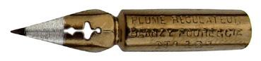 Antike Kalligraphie Spitzfeder, Blanzy-Poure & Cie, No. 161, Plume Regulateur