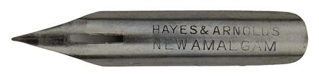 Kalligraphie Spitzfeder, Hayes & Arnolds, New Amalgam Pen