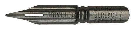 Antike Spitzfeder, Blanzy-Poure & Cie, No. 703, Mitrailleuse, Typ 2