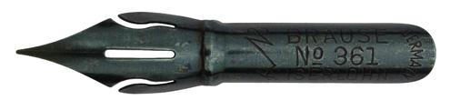 Antike Kalligraphie Spitzfeder, Brause & Co, Stenofeder No. 361, Typ 3