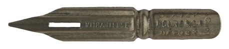 Antike Spitzfeder, Blanzy Poure & Cie, No. 703, Mitrailleuse, Typ 1