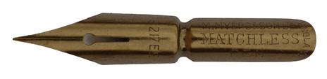 Kalligraphie Spitzfeder, M. Myers & Son, No. 3217 EF, Matchless Pen