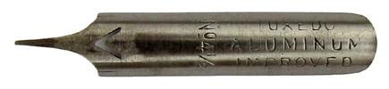 Kalligraphie Spitzfeder, Tuxedo Aluminium Improved, 4 ein halb