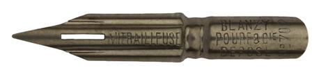Antike Spitzfeder, Blanzy Poure & Cie, No. 702, Mitrailleuse, Typ 2