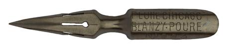 Antike Spitzfeder, Blanzy Poure & Cie, No. 993, Plume Chicago, Typ 1 b