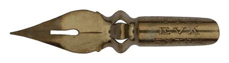 Antike Spitzfeder, Mario Locati, E.C. & F., No. 320, Eva Extra Typ 1